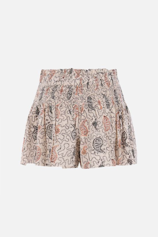 ISABEL MARANT ETOILE: Ayowel cotton shorts Color Multicolor_2
