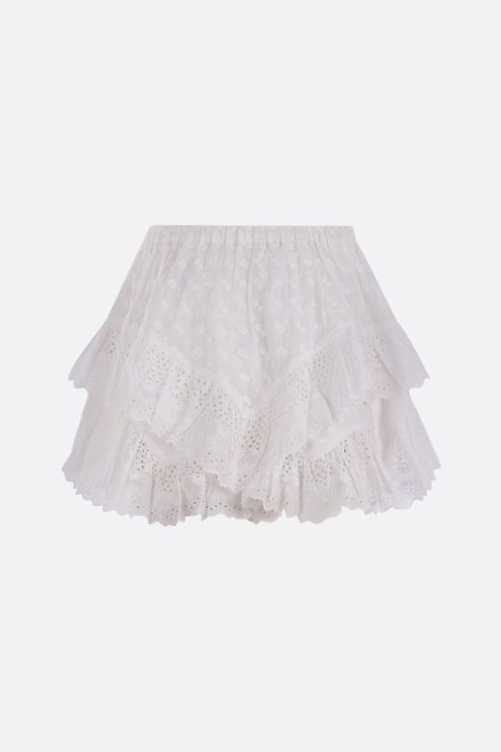 ISABEL MARANT ETOILE: Teocadia borderie anglaise shorts Color White_2