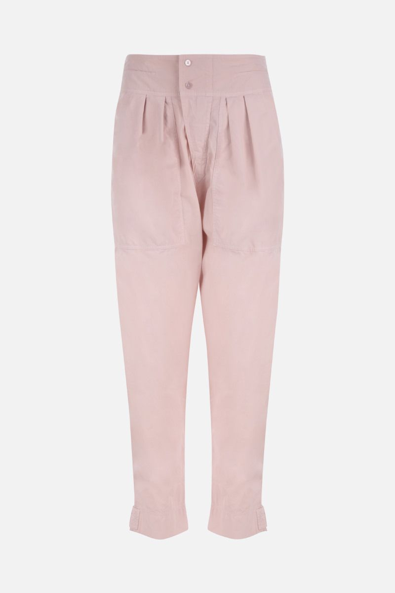 ISABEL MARANT ETOILE: pantalone carrot-fit Mariz in cotone Colore Rosa_1