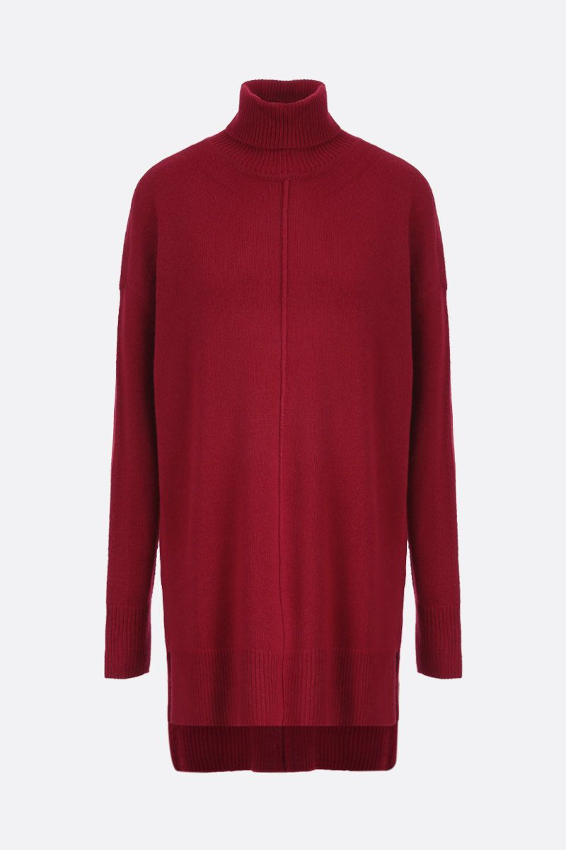 ISABEL MARANT: Anya cashmere blend midi dress Color Red_1