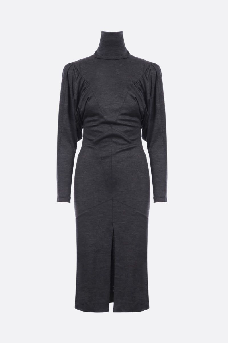 ISABEL MARANT: Genia lightweight wool midi dress Color Grey_1