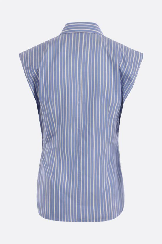 ISABEL MARANT: Enza striped silk sleeveless shirt Color Blue_2
