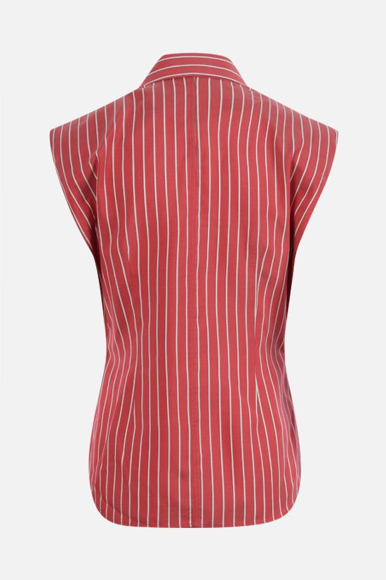 ISABEL MARANT: Enza striped silk sleeveless shirt Color Red_2