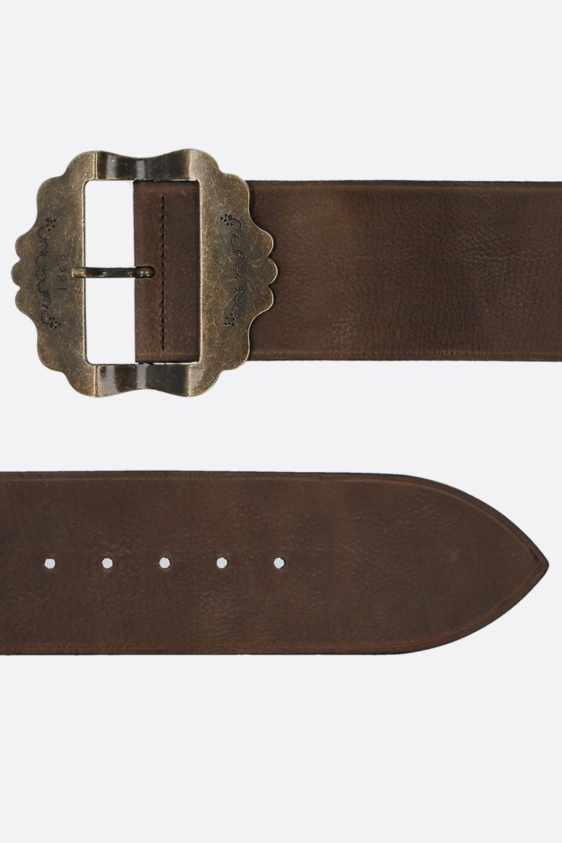ISABEL MARANT: Awele grainy leather belt Color Brown_2