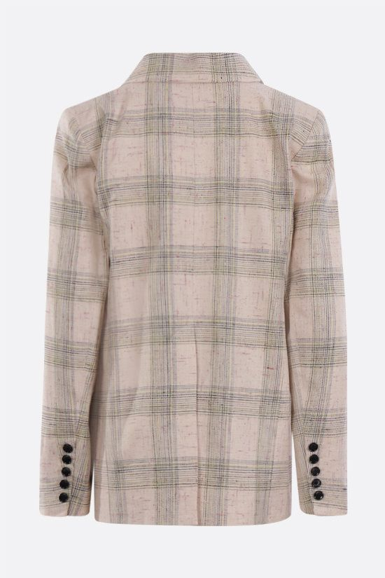 ISABEL MARANT: Leonora double-breasted linen silk blend jacket Color Neutral_2