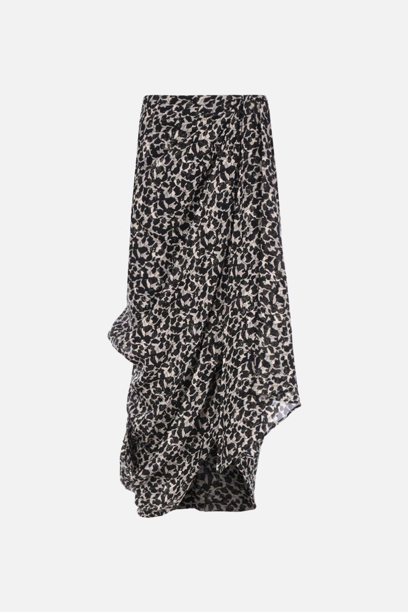 ISABEL MARANT: Candelia georgette midi skirt Color Multicolor_1