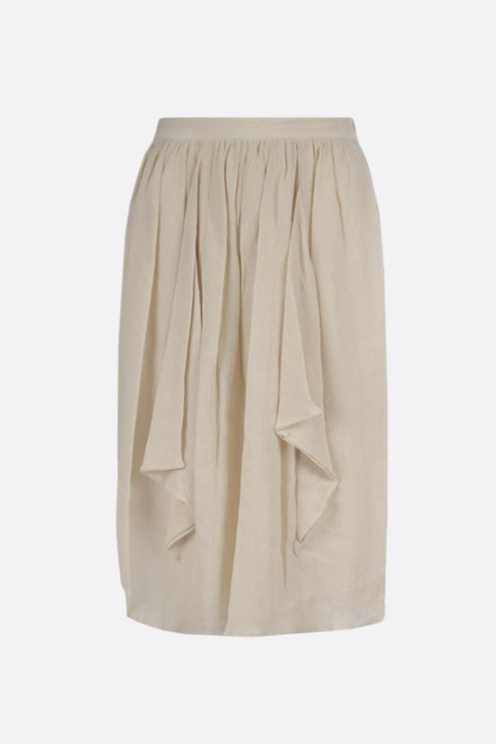 ISABEL MARANT: Darnae cotton silk blend midi skirt Color Neutral_1