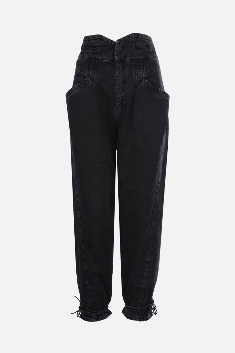 ISABEL MARANT: Nubaia cropped jeans Color Black_1