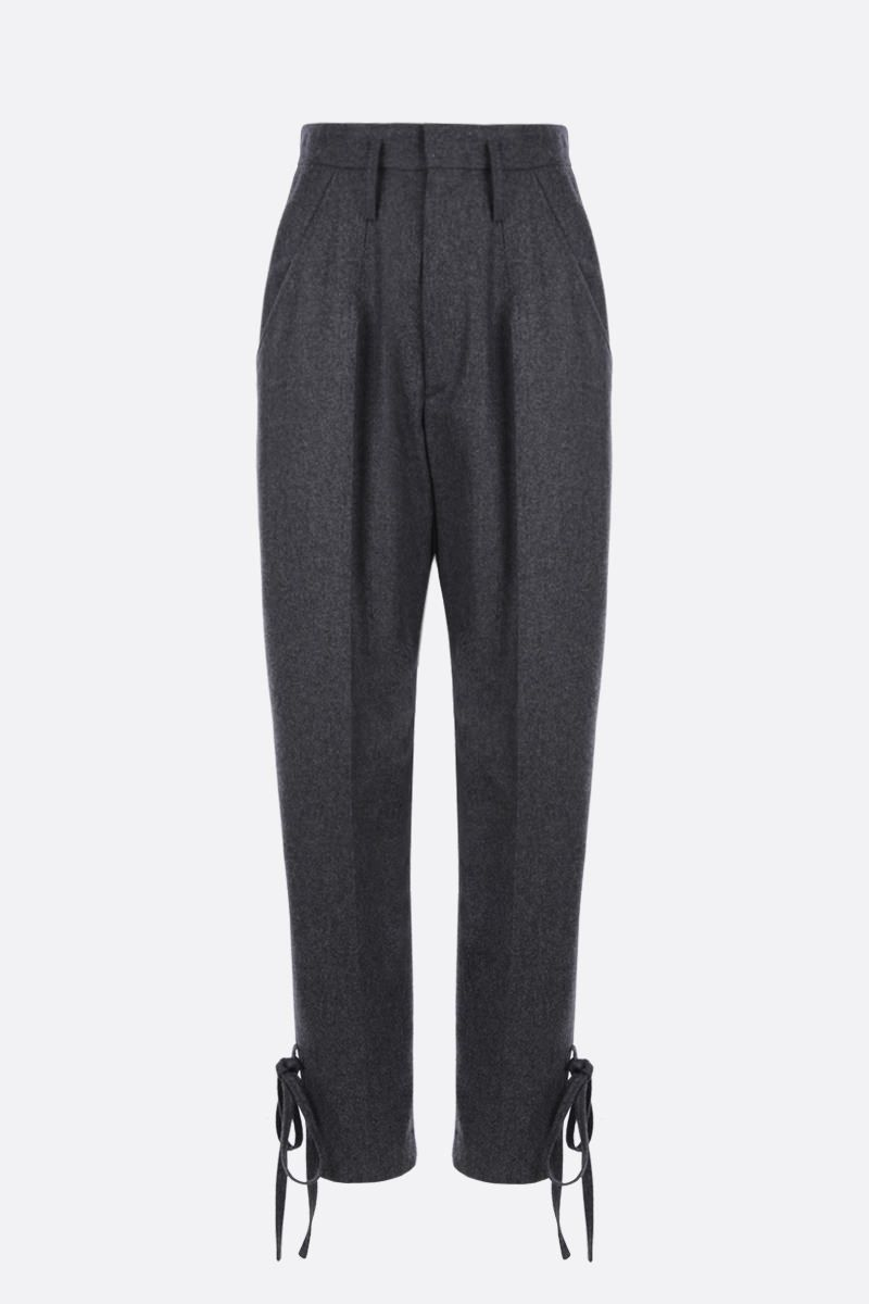 ISABEL MARANT: Racomi wool baggy pants Color Grey_1
