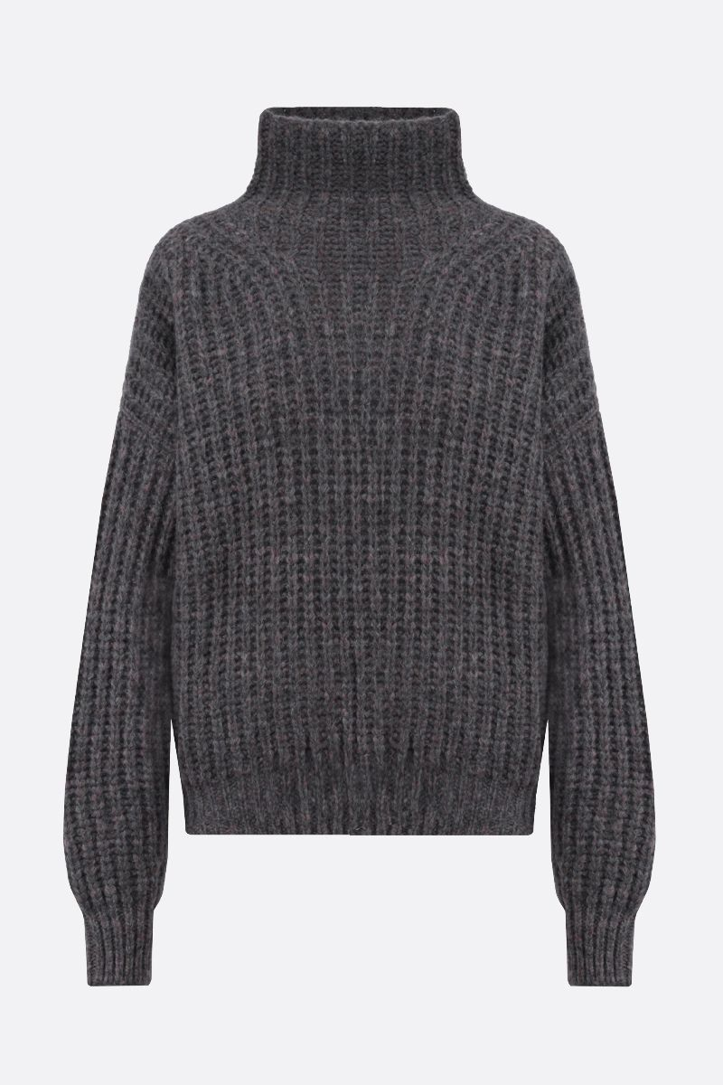 ISABEL MARANT: Iris alpaca mohair blend pullover Color Grey_1
