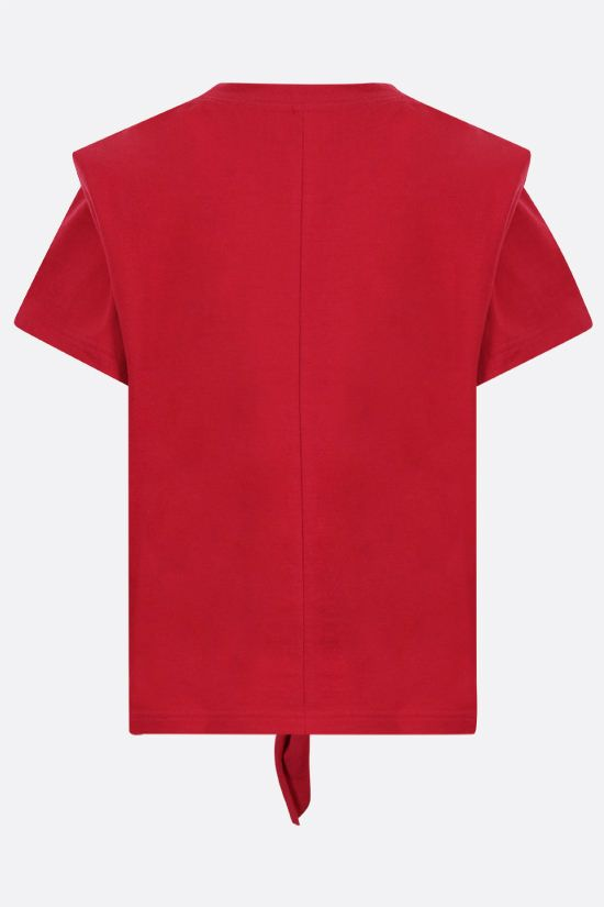 ISABEL MARANT: t-shirt Zelitos in cotone Colore Rosso_2
