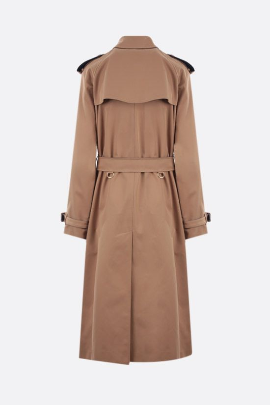 BURBERRY: Waterloo double-breasted cotton trench coat Color Brown_2