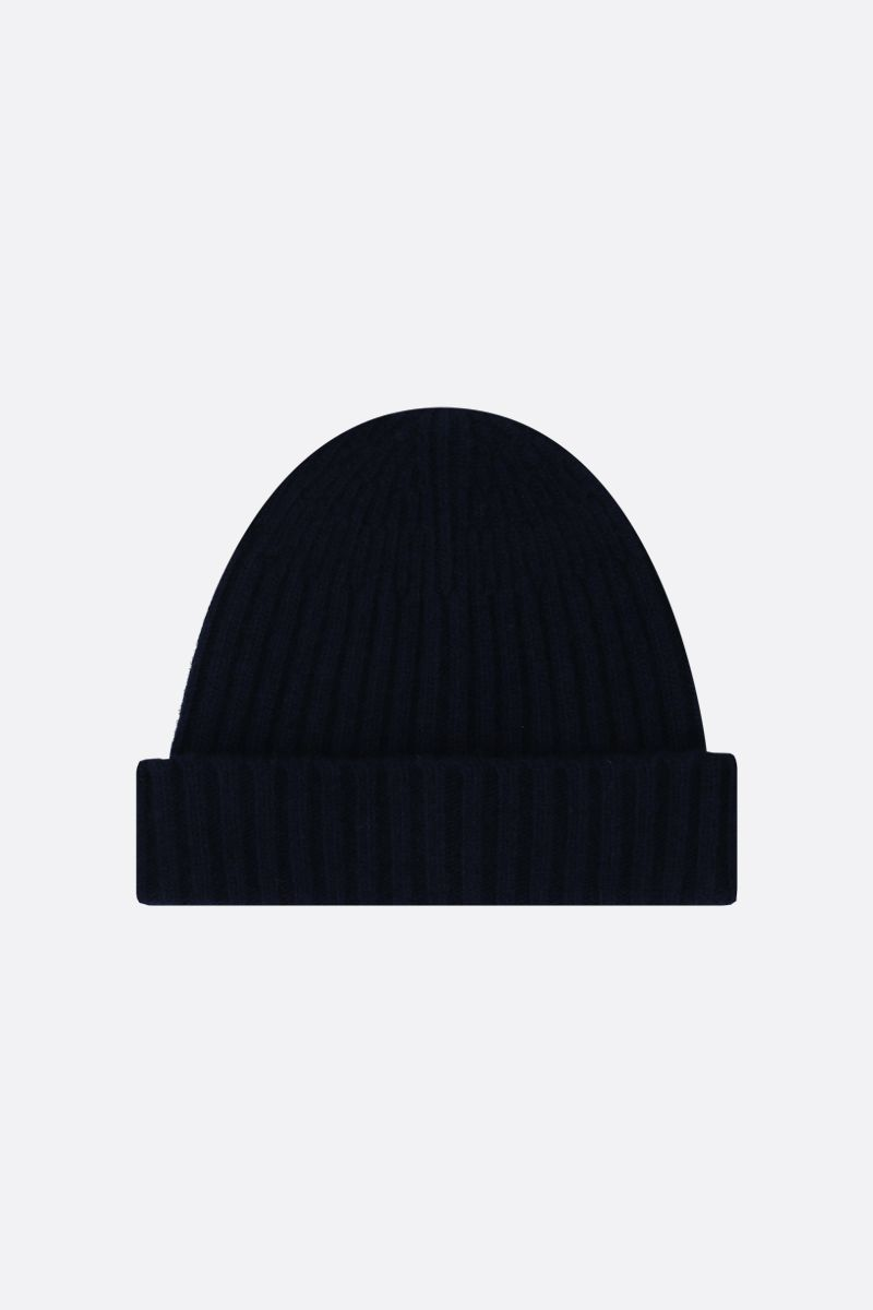 ROBERTO COLLINA: rib knit wool beanie Color Blue_1