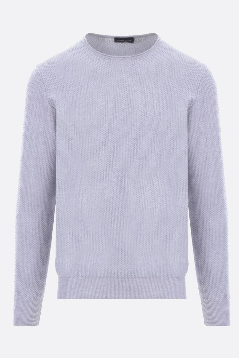 ROBERTO COLLINA: textured-knit cotton pullover Color Grey_1