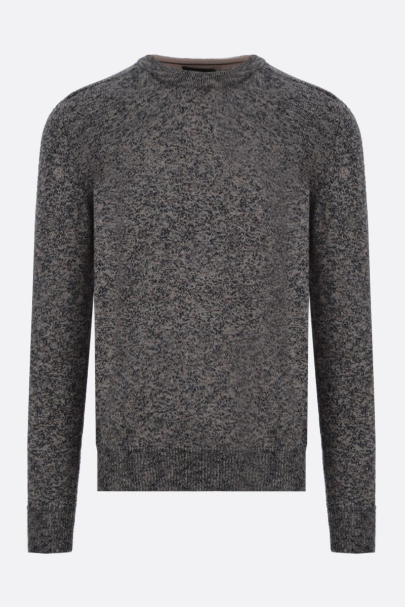 ROBERTO COLLINA: melange cotton blend pullover Color Multicolor_1