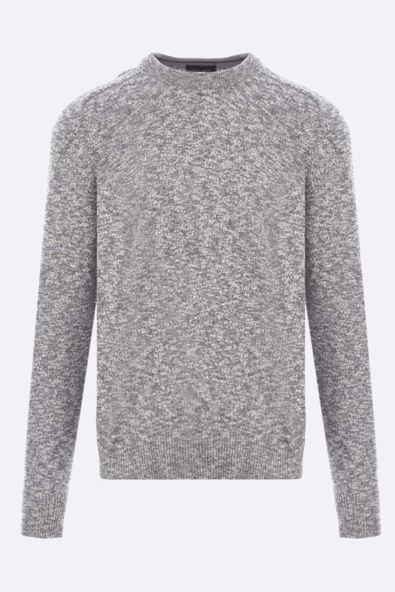 ROBERTO COLLINA: melange cotton blend pullover Color Neutral_1