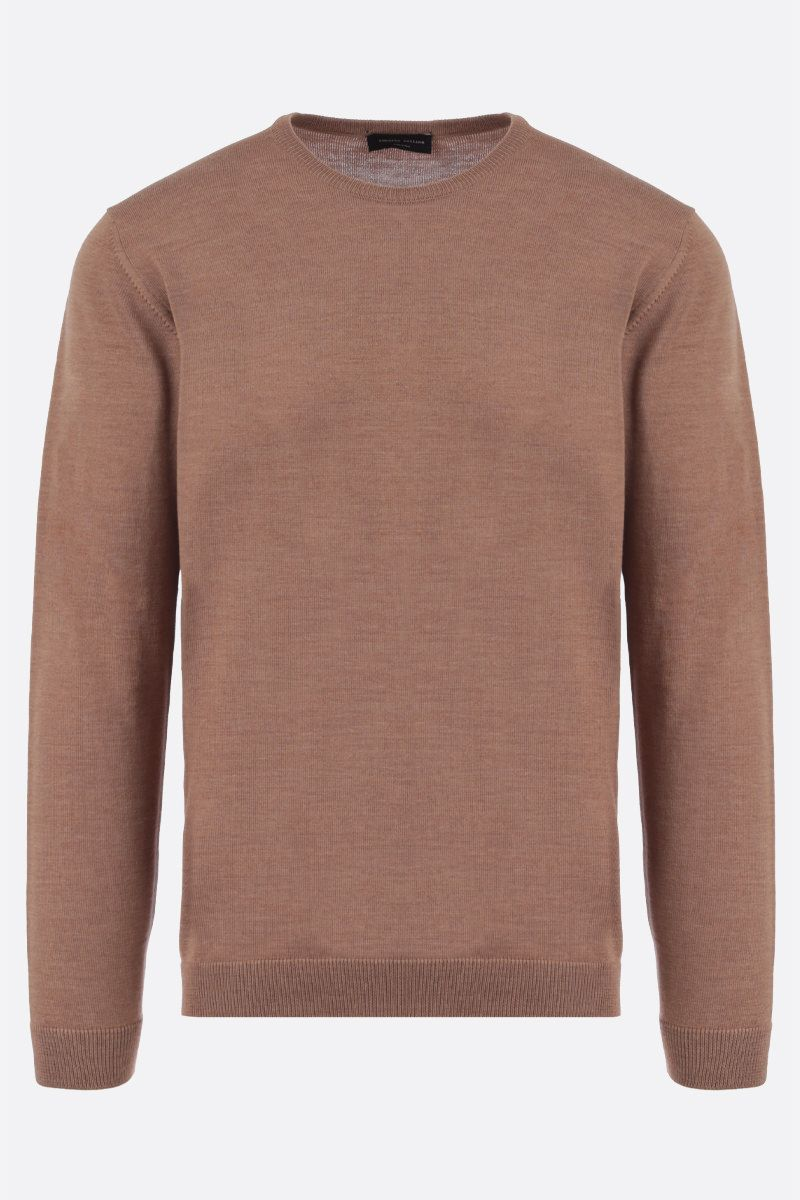 ROBERTO COLLINA: combed wool pullover Color Neutral_1