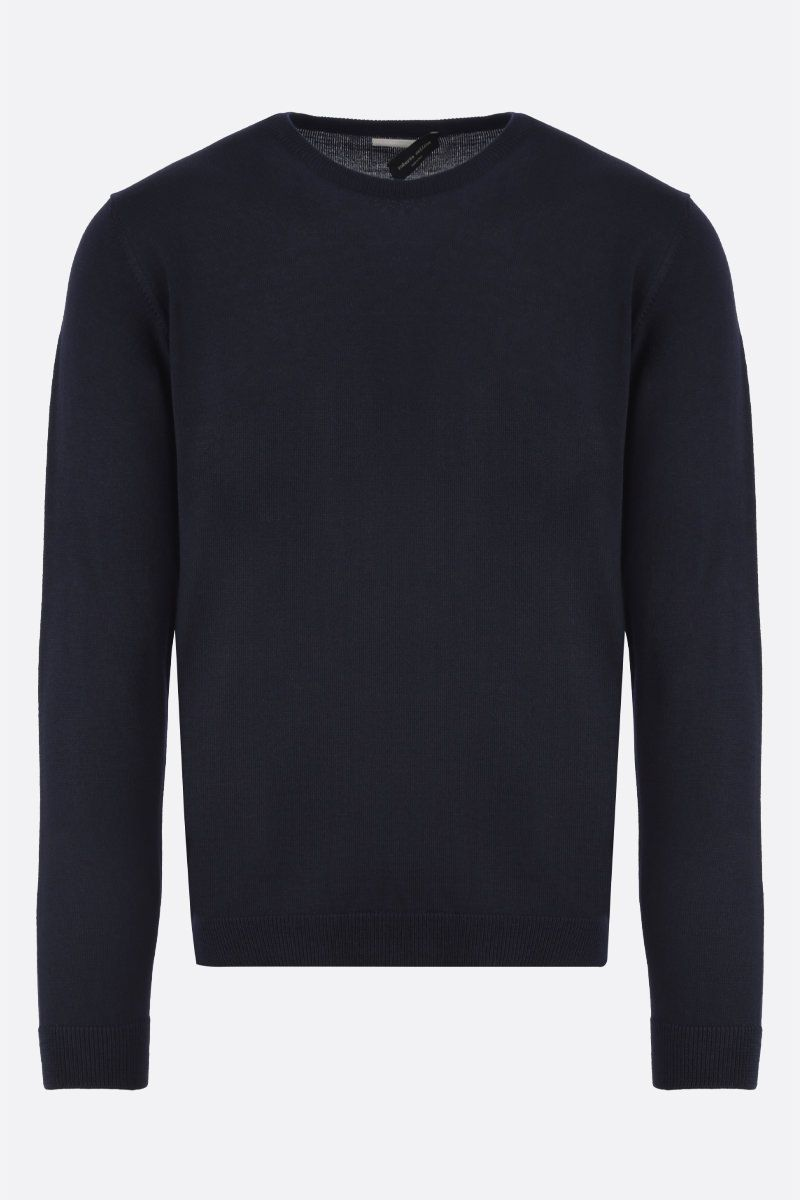ROBERTO COLLINA: combed wool pullover Color Blue_1