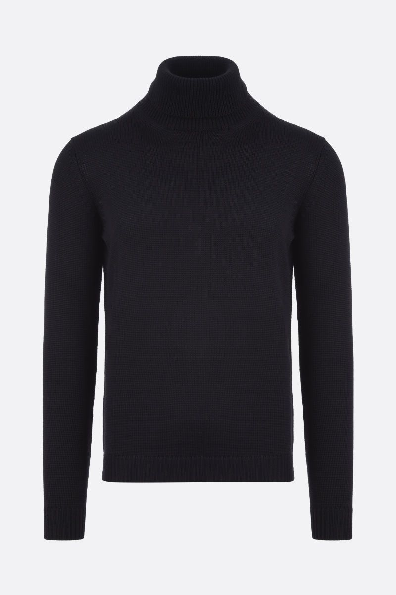 ROBERTO COLLINA: merino wool turtleneck Color Black_1