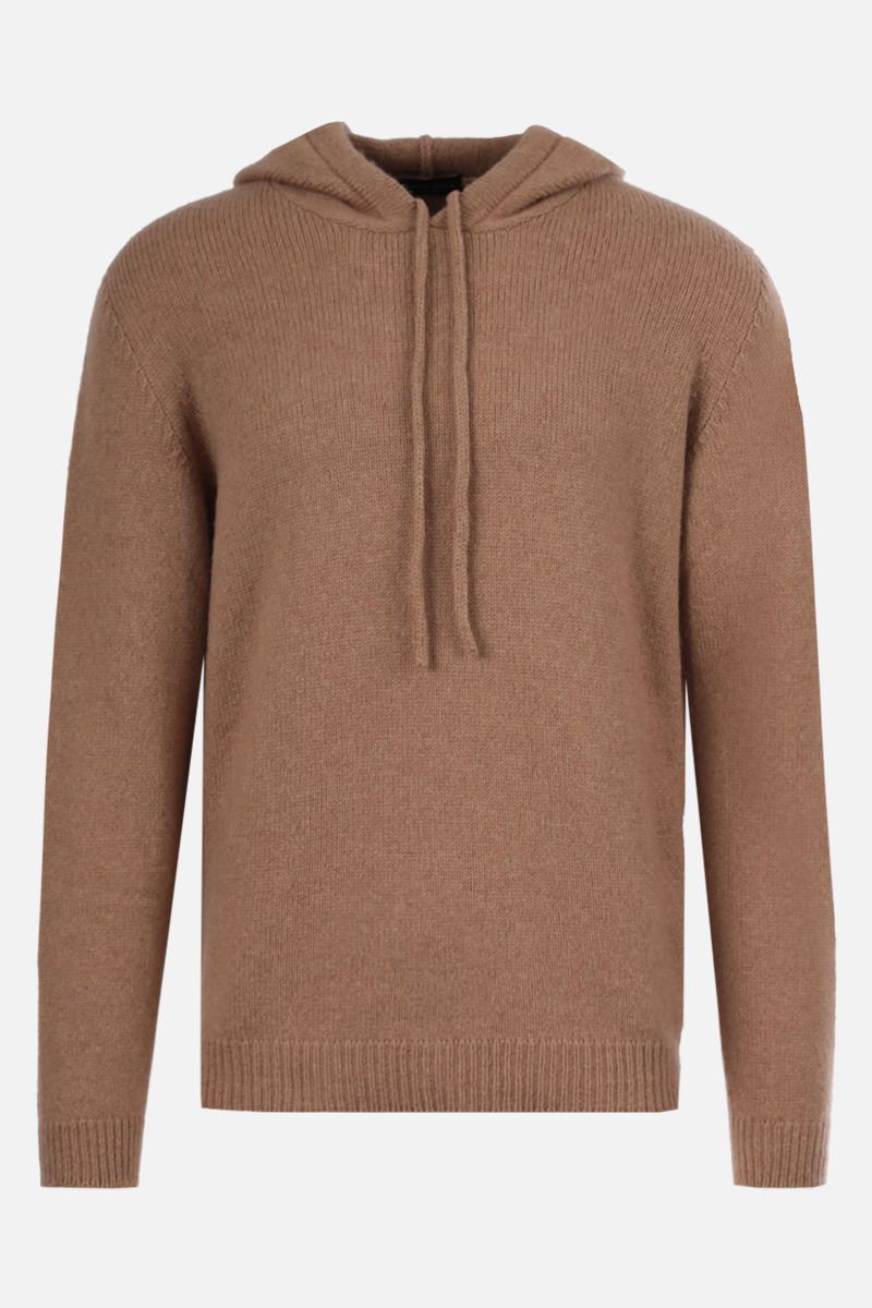 ROBERTO COLLINA: wool blend hooded pullover Color Neutral_1