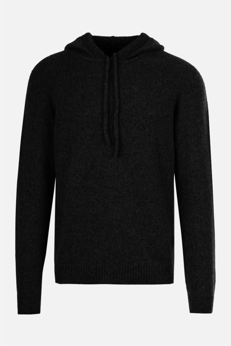 ROBERTO COLLINA: wool blend hooded pullover Color Blue_1