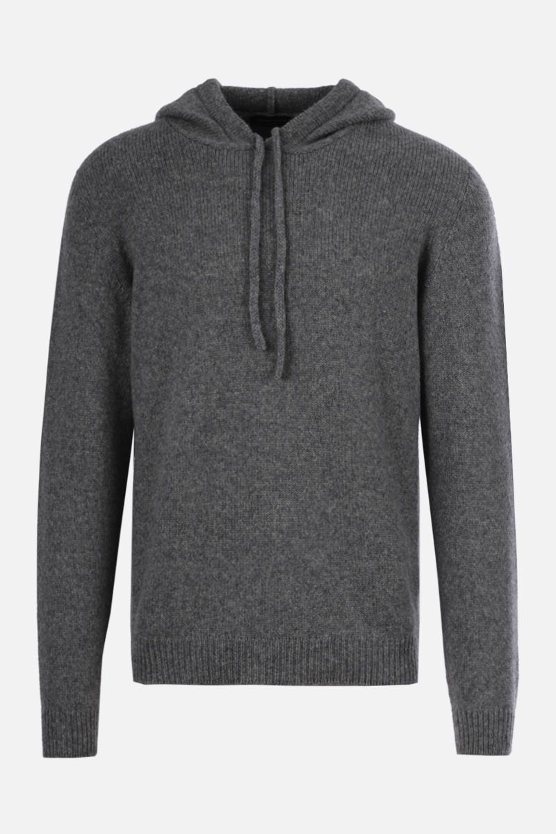 ROBERTO COLLINA: wool blend hooded pullover Color Grey_1