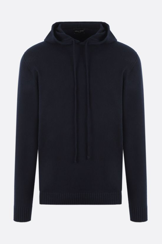 ROBERTO COLLINA: hooded organic cotton pullover Color Blue_1