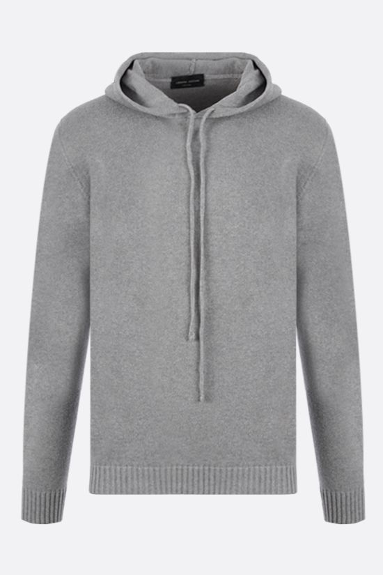 ROBERTO COLLINA: hooded organic cotton pullover Color Grey_1