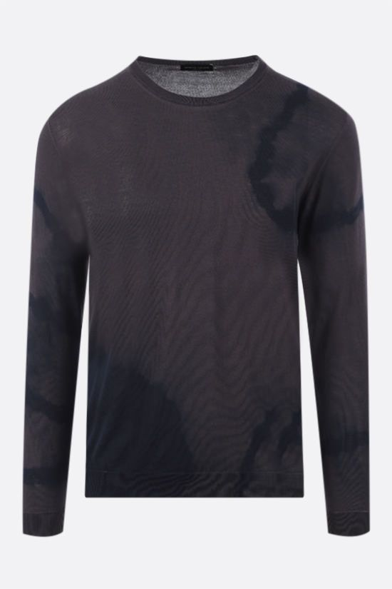 ROBERTO COLLINA: tie-dye cotton pullover Color Brown_1