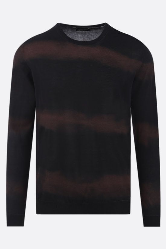ROBERTO COLLINA: tie-dye cotton pullover Color Black_1