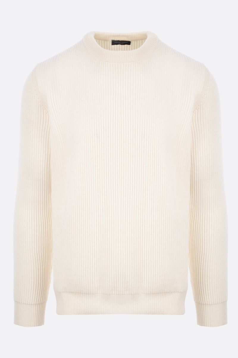 ROBERTO COLLINA: ribbed wool pullover Color Neutral_1