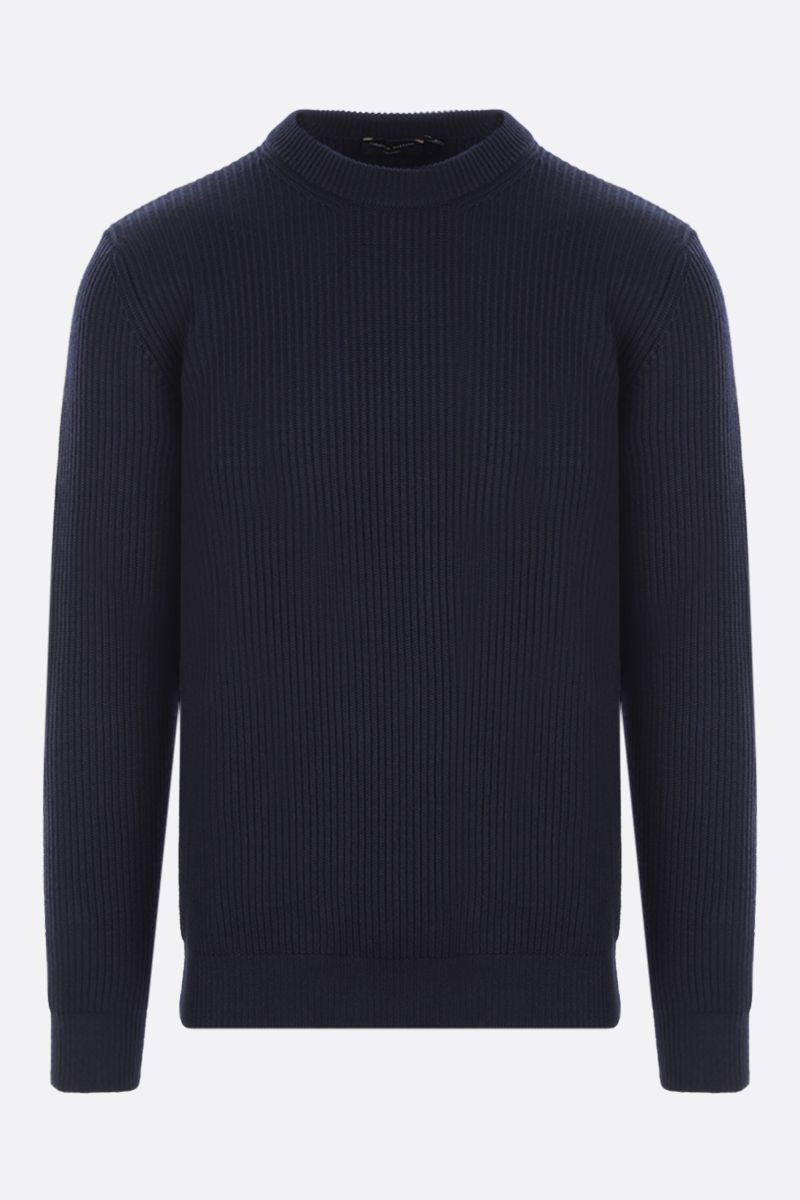 ROBERTO COLLINA: ribbed wool pullover Color Blue_1