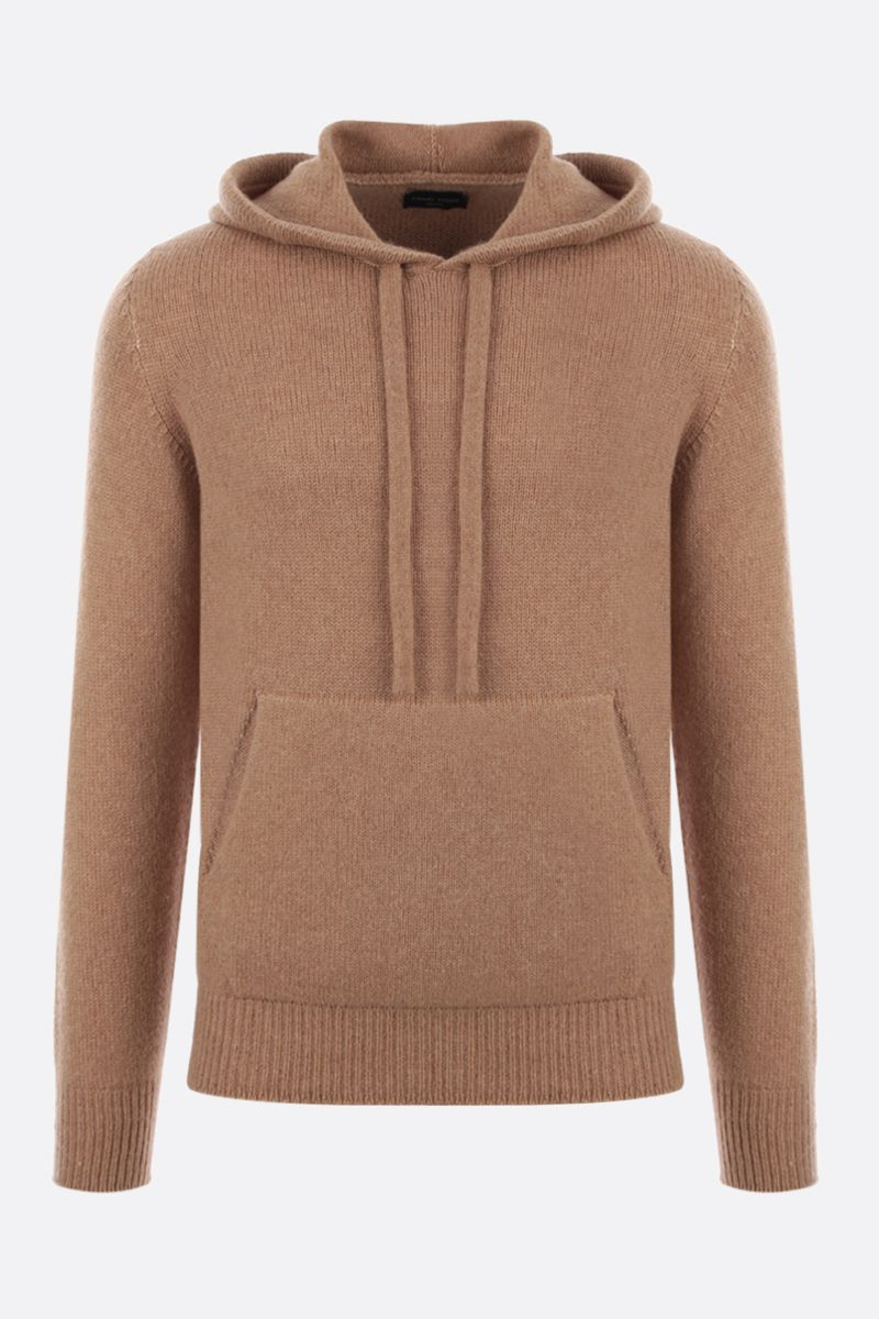 ROBERTO COLLINA: hooded wool blend pullover Color Brown_1