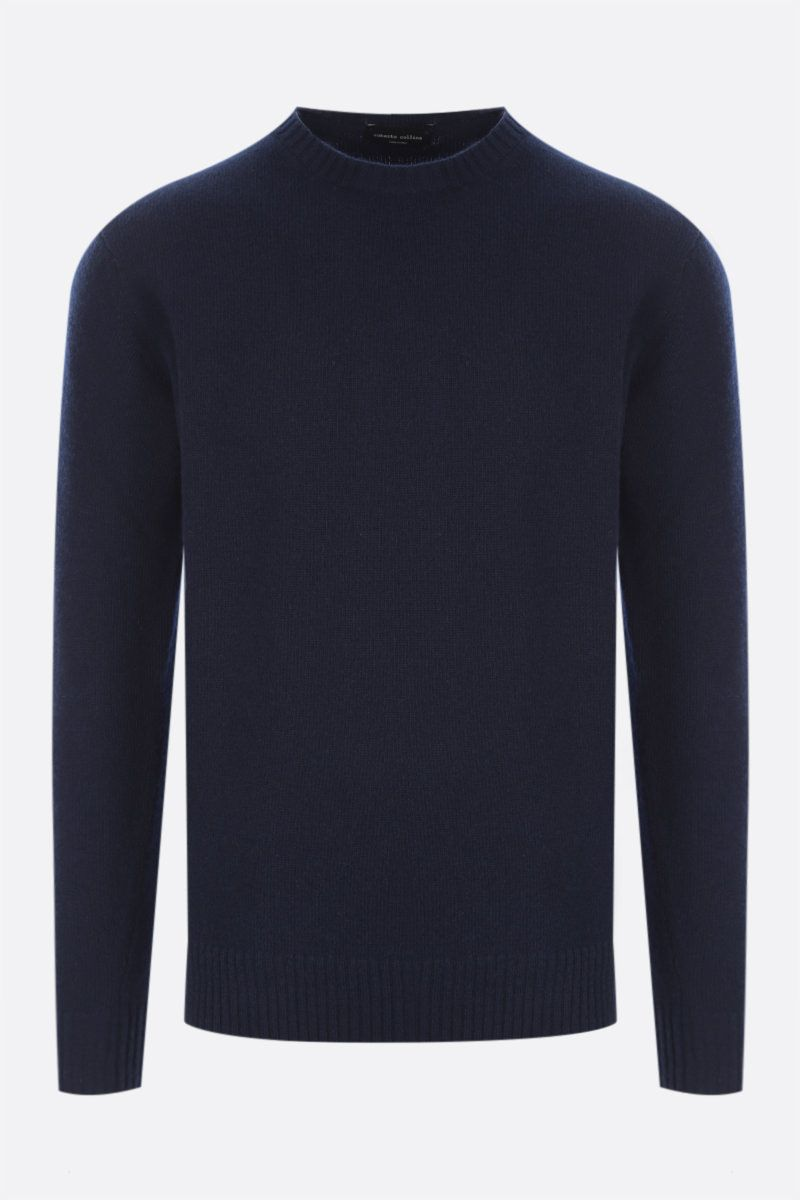ROBERTO COLLINA: cashmere wool blend pullover Color Blue_1