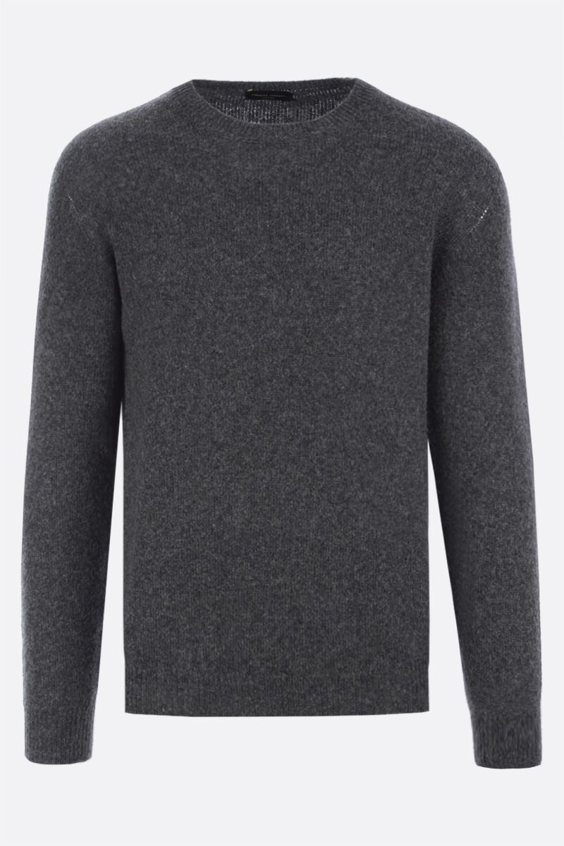 ROBERTO COLLINA: camel wool blend pullover Color Grey_1