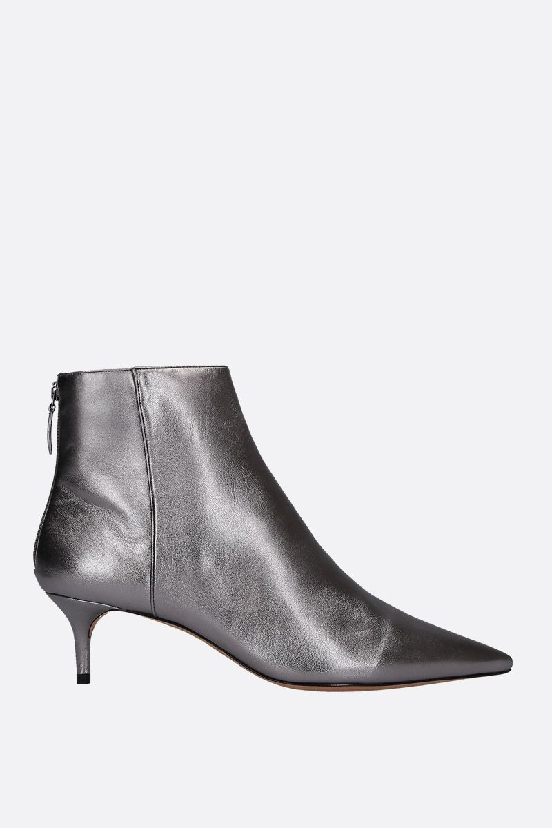 ALEXANDRE BIRMAN: Kittie ankle boots in laminated nappa Color Grey_1
