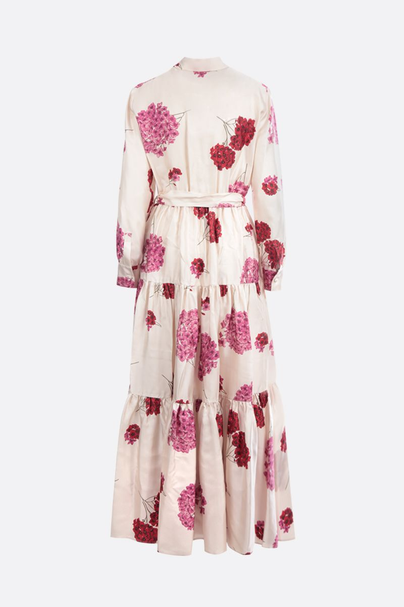 LA DOUBLE J: Bellini silk long dress Color Pink_2