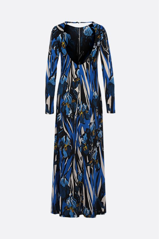 LA DOUBLE J: Swank crepe jersey long dress Color Blue_2