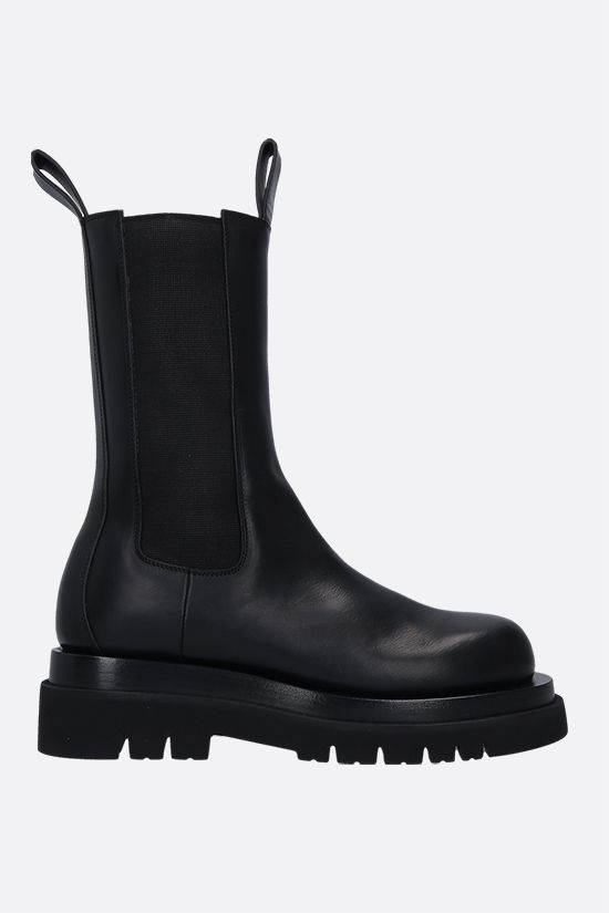 BOTTEGA VENETA: Storm leather biker boots Color Black_1
