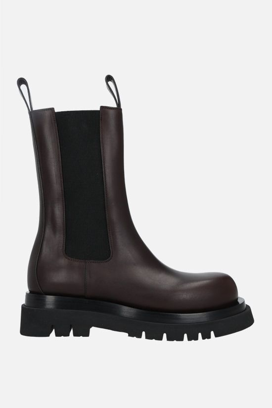 BOTTEGA VENETA: Lug Storm leather biker boots Color Brown_1