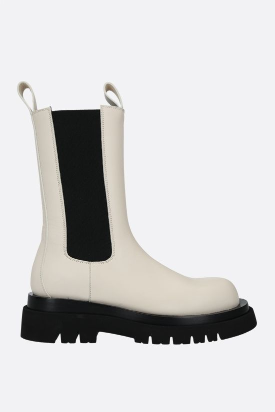 BOTTEGA VENETA: Storm leather biker boots Color Neutral_1
