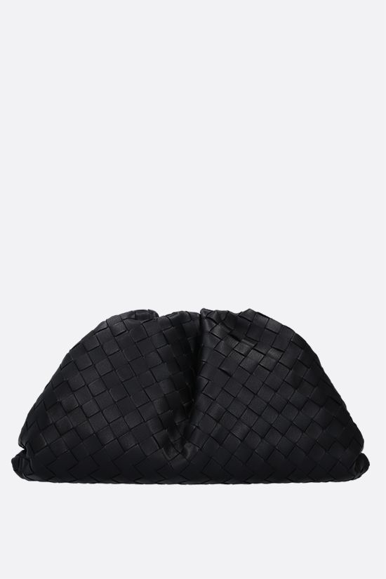 BOTTEGA VENETA: The Pouch clutch in Intrecciato VN Color Black_1