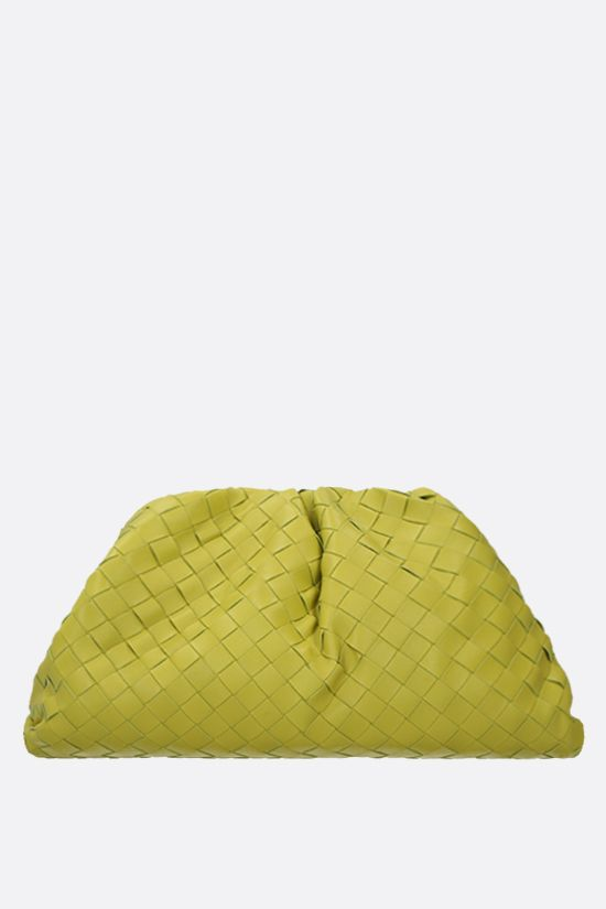 BOTTEGA VENETA: The Pouch clutch in Intrecciato VN Color Green_1