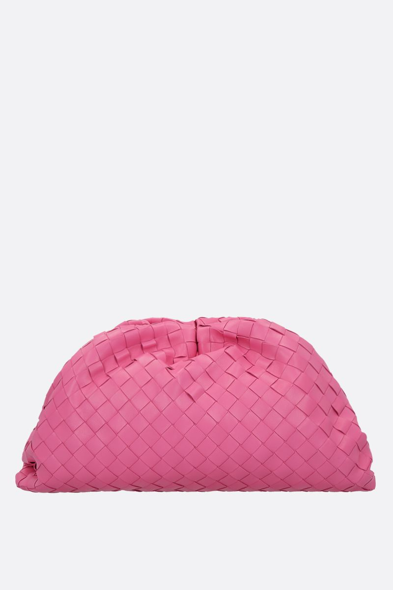 BOTTEGA VENETA: The Chain clutch in Intrecciato VN Color Pink_1