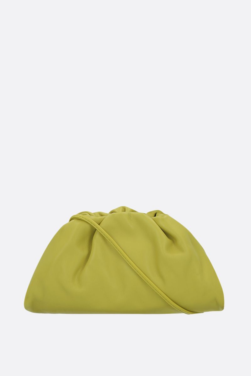 BOTTEGA VENETA: The Pouch 20 smooth leather clutch Color Green_1