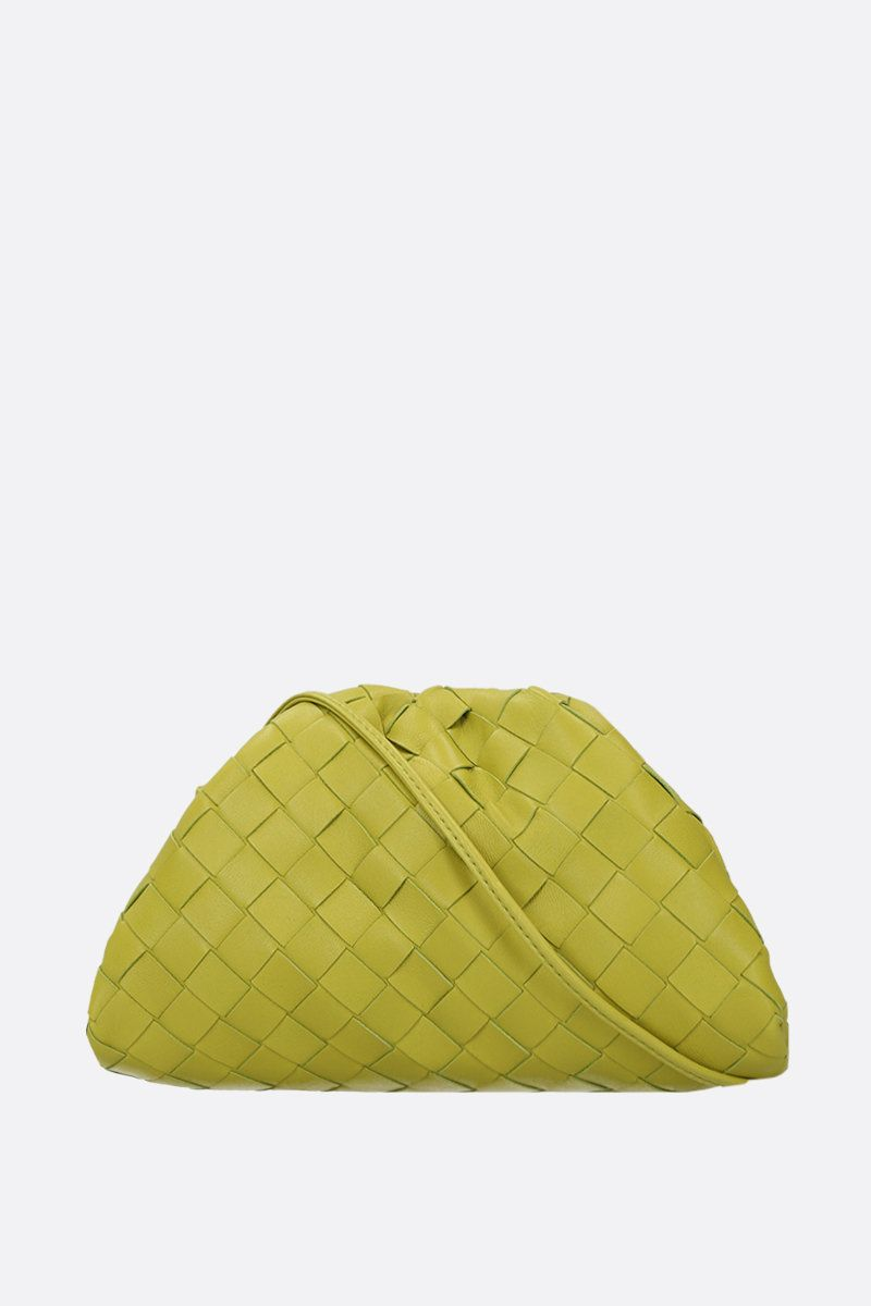 BOTTEGA VENETA: The Pouch 20 clutch in Intrecciato nappa Color Green_1