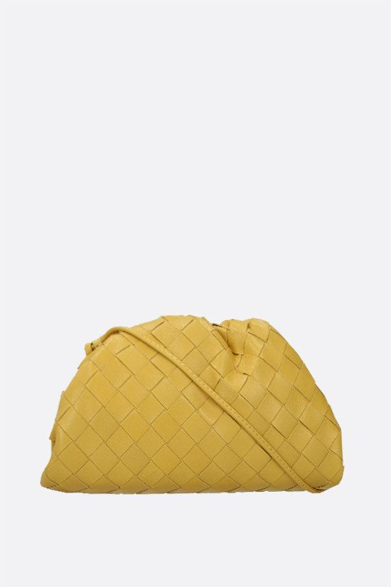 BOTTEGA VENETA: The Pouch 20 clutch in Intrecciato nappa Color White_1