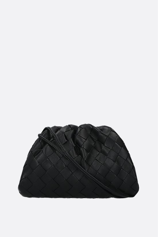 BOTTEGA VENETA: clutch The Pouch 20 in Intrecciato nappa Colore Nero_1