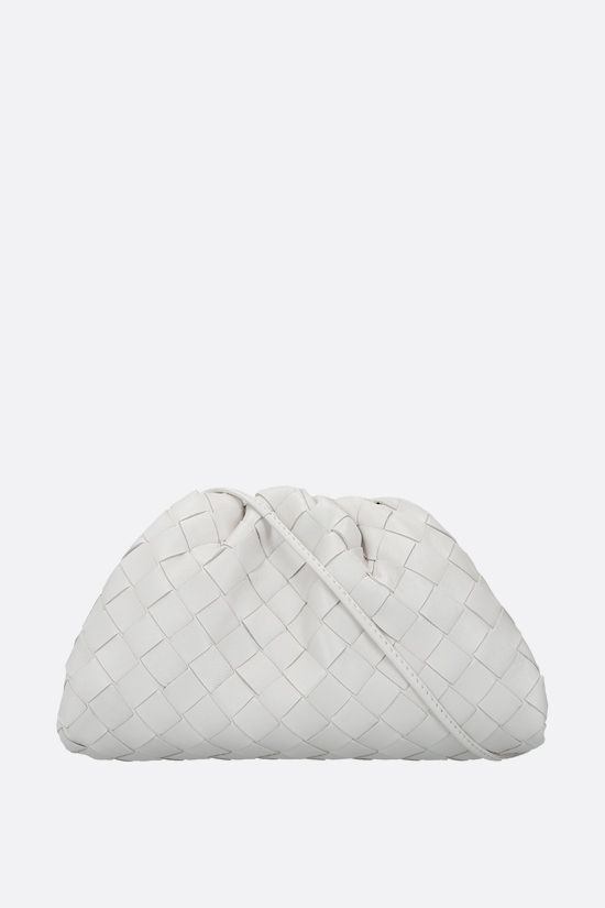 BOTTEGA VENETA: The Pouch 20 clutch in Intrecciato nappa Color Neutral_1