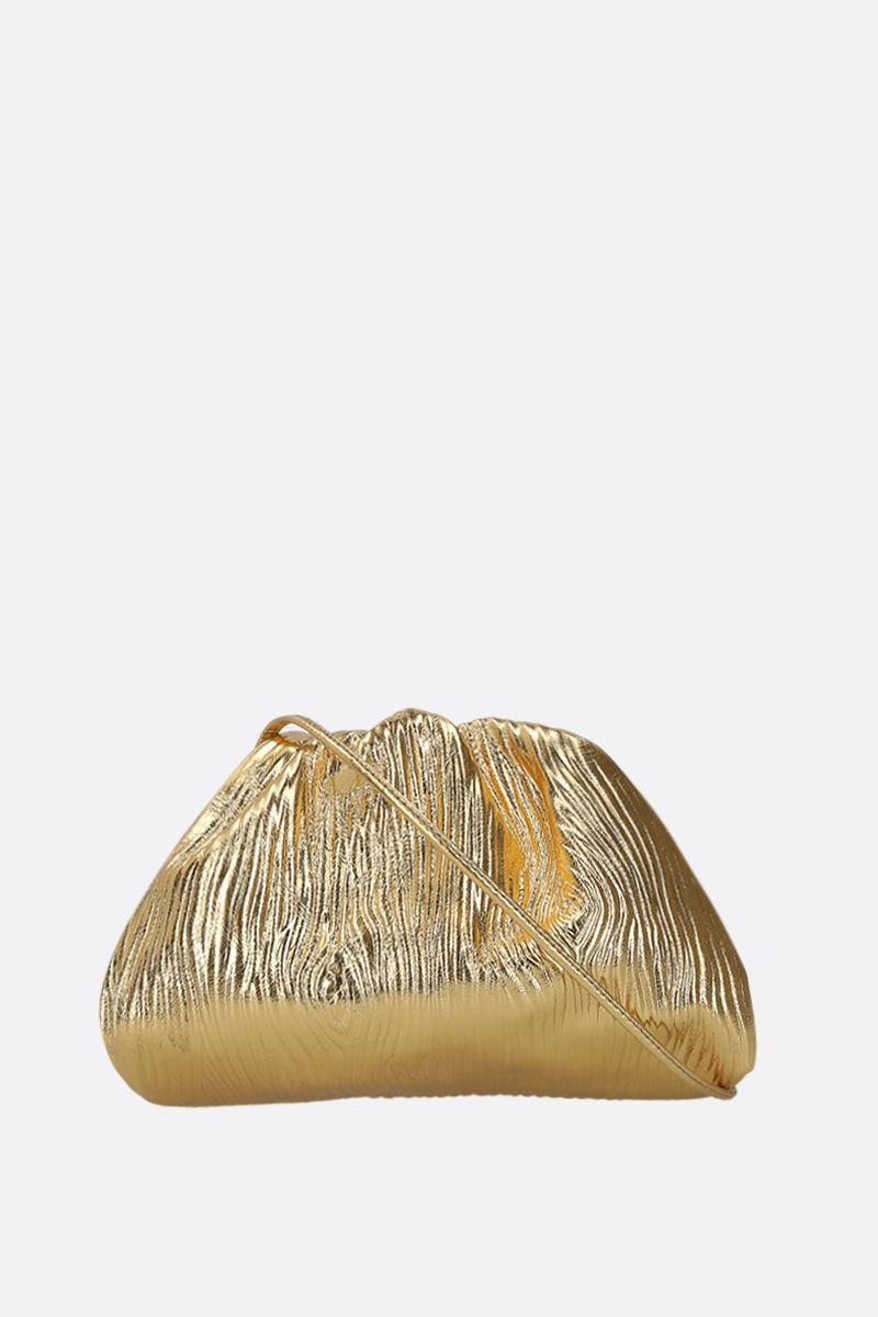 BOTTEGA VENETA: clutch The Pouch 20 in pelle laminata Colore Oro_1